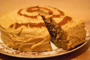 Coffee cake iced