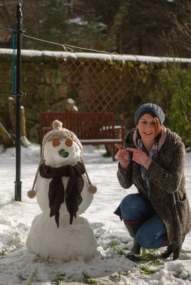 Lucy's first snowman